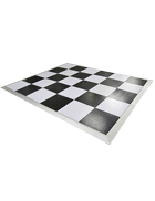 Dance Floor 7m x 7m (Black and white)