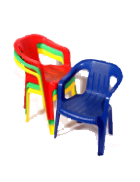 Coloured plastic kids chair