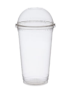 Pack of 50 regular cups with dome lids (225ml)