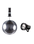 Disco ball and motor in 16-inch size