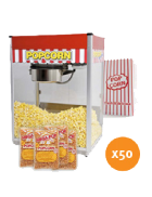 Popcorn machine hire – Package 1 – 50 serves
