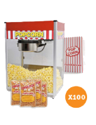 Popcorn machine hire – Package 2 – 100 serves