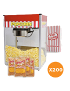 Popcorn machine hire – Package 4 – 200 serves