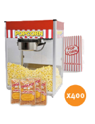Popcorn machine hire – Package 5 – 400 serves