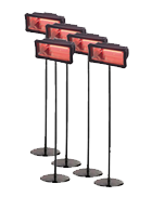 Package 5 – 5 x Electric Radiant heater
