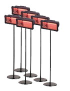 Package 6 – 6 x Electric Radiant heater