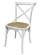 White-Cross-Back-Chair