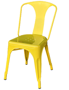 Yellow Tolix chair