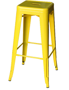 Yellow Tolix stool