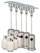 Package 5 – 5 x Mushroom heater with gas bottles included