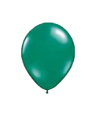 25 Pack Dark Green Latex 12″ Balloons