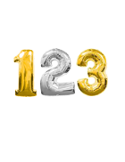 Jumbo Gold & Silver Numbers