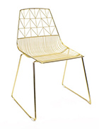 Gold Wire Chair And Gold Arrow Chair