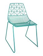 Turquoise Blue Wire Chair And Arrow Chair