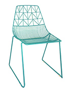 Turquoise-Blue-Wire-Chair