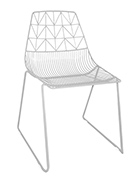 White Wire Chair And White Arrow Chair
