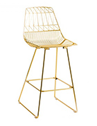 Gold Wire Stool / Gold Arrow Stool