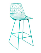 Turquoise Wire Stool / Turquoise Arrow Stool