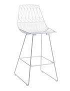 White-Wire-Stool