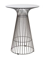 Gun Metal Wire Cocktail Table with Glass Top