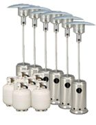 Package 6 – 6 x Mushroom heater with gas bottles included