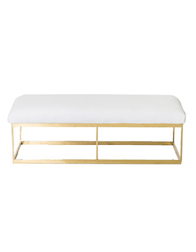 Outstanding White With Gold Ottoman Bench Marquee Hire Party Pdpeps Interior Chair Design Pdpepsorg