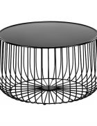 Black wire coffee table