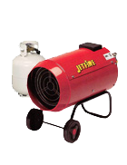 1 x Space heater with 9kg gas bottle included