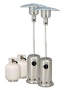 Package 2 – 2 x Mushroom heater with gas bottles included