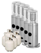 Package 5 – 5 x Area heater with gas bottle included