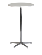 Cocktail table in white laminate