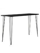 Black Hairpin High Bar Table With Black Top (Tapas Table)